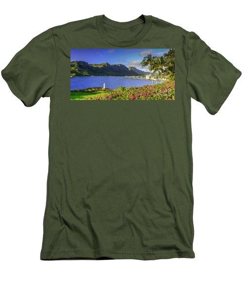 Kuku'i Point Lighthouse, Nawiliwili Bay, Kauai Hawaii Men's T-Shirt (Athletic Fit)