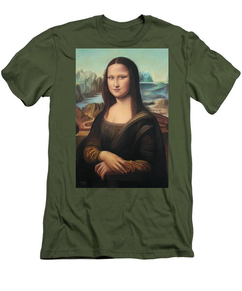 La Gioconda - Pastel  Men's T-Shirt (Slim Fit) by Vishvesh Tadsare