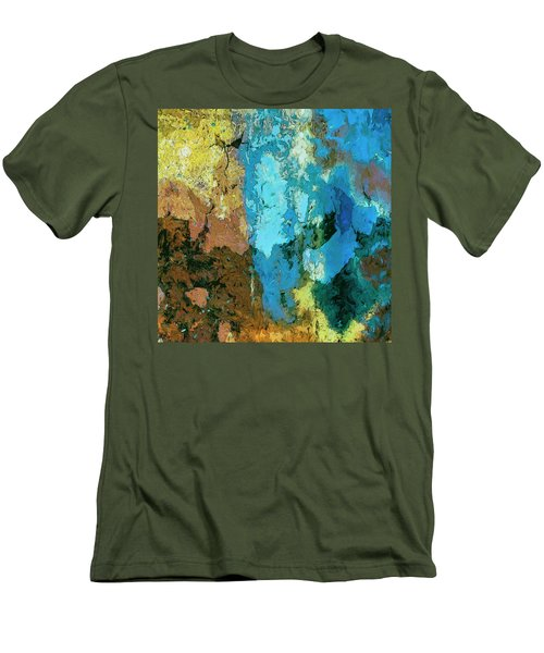 Men's T-Shirt (Slim Fit) featuring the painting La Playa by Dominic Piperata