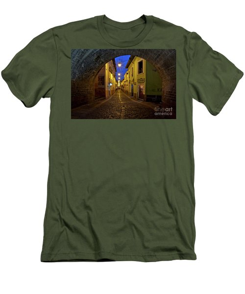 La Ronda Calle In Old Town Quito, Ecuador Men's T-Shirt (Athletic Fit)