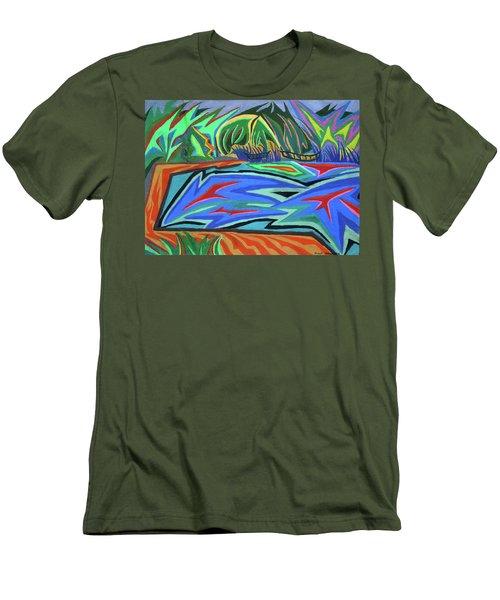 Lac Aura Men's T-Shirt (Slim Fit) by Robert SORENSEN