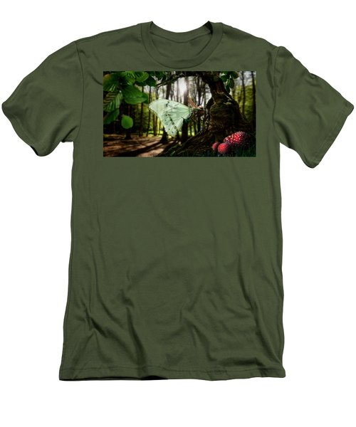 Lady Butterfly Men's T-Shirt (Athletic Fit)