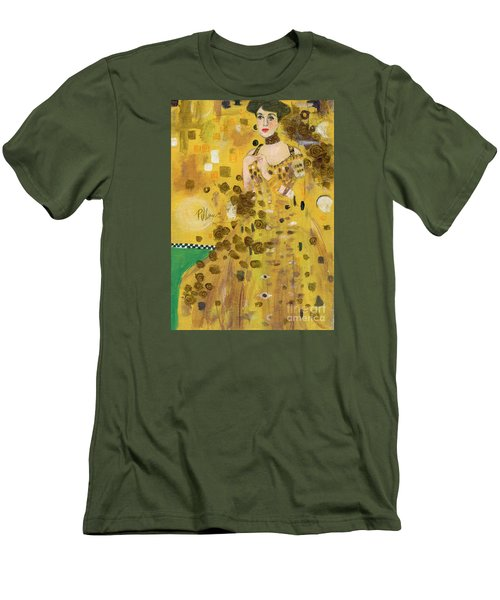 Lady In Gold Men's T-Shirt (Slim Fit) by P J Lewis