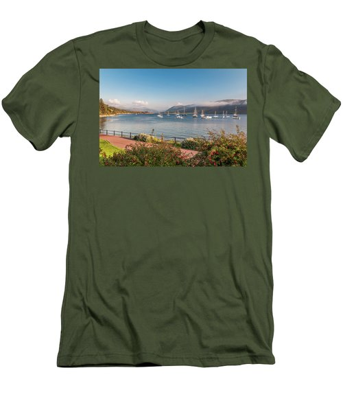 Gulf Of  Ullapool  - Photo Men's T-Shirt (Slim Fit) by Sergey Simanovsky