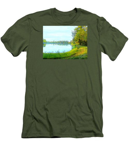 Lake And Woods Men's T-Shirt (Slim Fit) by Craig Walters