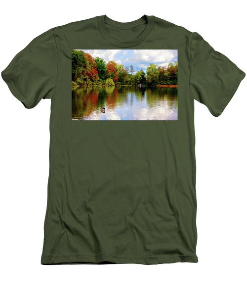 Lake At Forest Park Men's T-Shirt (Athletic Fit)