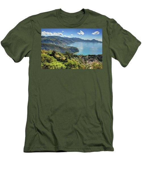 Lake Atitlan Men's T-Shirt (Slim Fit) by John Loreaux