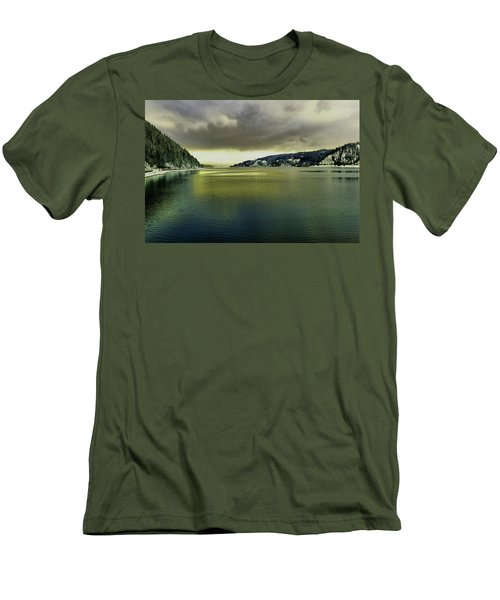 Men's T-Shirt (Slim Fit) featuring the photograph Lake Coeur D' Alene by Jeff Swan