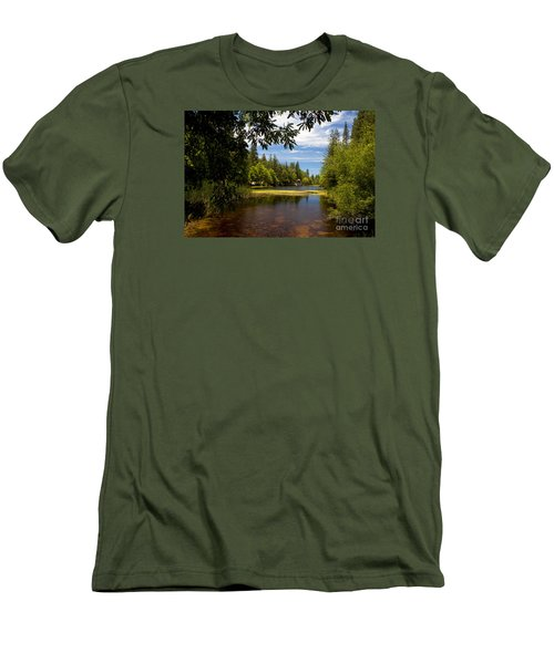 Lake Fulmor View Men's T-Shirt (Slim Fit) by Ivete Basso Photography