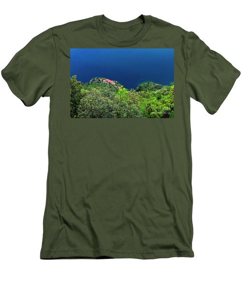 Lake Garda  Men's T-Shirt (Slim Fit) by Maja Sokolowska