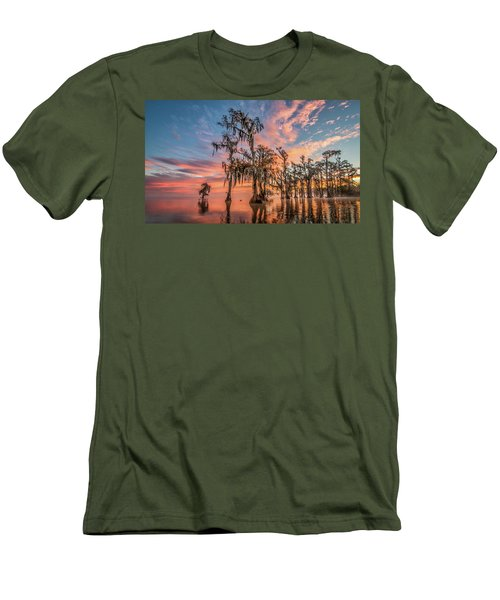 Lake Maurepas On Fire Men's T-Shirt (Athletic Fit)