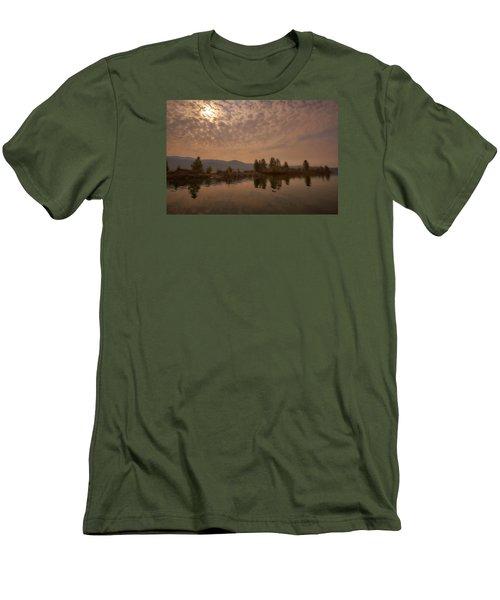 Lake Roosevelt Washington2 Men's T-Shirt (Slim Fit) by Loni Collins