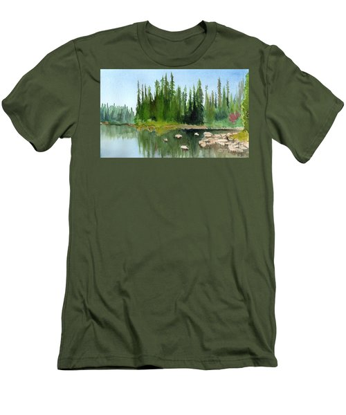 Lake View 1 Men's T-Shirt (Athletic Fit)