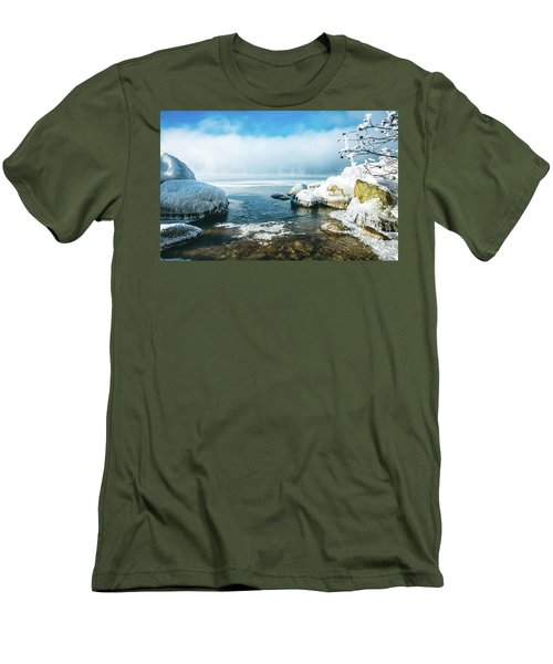 Men's T-Shirt (Slim Fit) featuring the photograph Lake Winnisquam by Robert Clifford