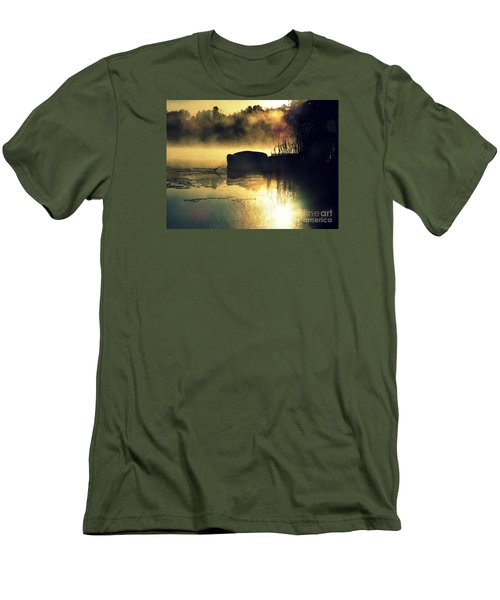 Men's T-Shirt (Slim Fit) featuring the photograph Lakeshore by France Laliberte