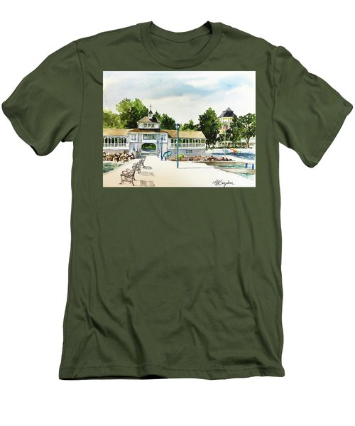 Lakeside Dock And Pavilion Men's T-Shirt (Athletic Fit)