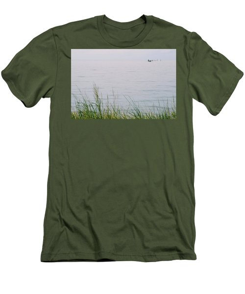 Men's T-Shirt (Athletic Fit) featuring the photograph Land To Sea by Deborah  Crew-Johnson