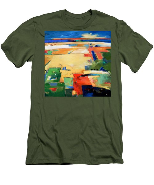 Men's T-Shirt (Slim Fit) featuring the painting Landforms, You've Never Been Here by Gary Coleman