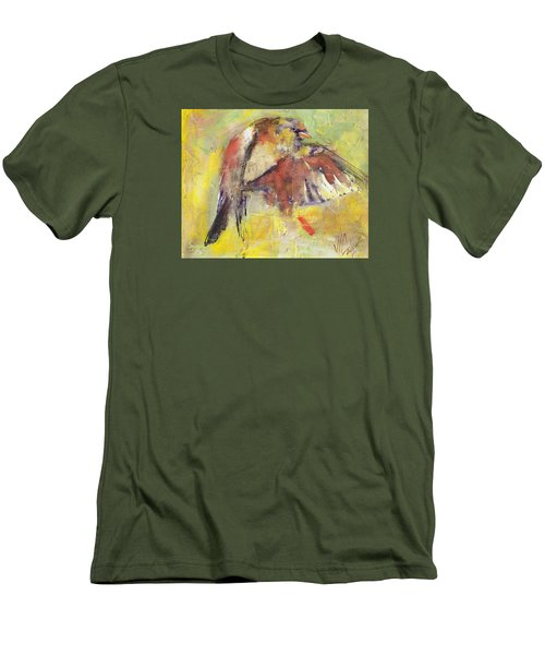 Landing On The Rainbow Men's T-Shirt (Slim Fit) by Vali Irina Ciobanu