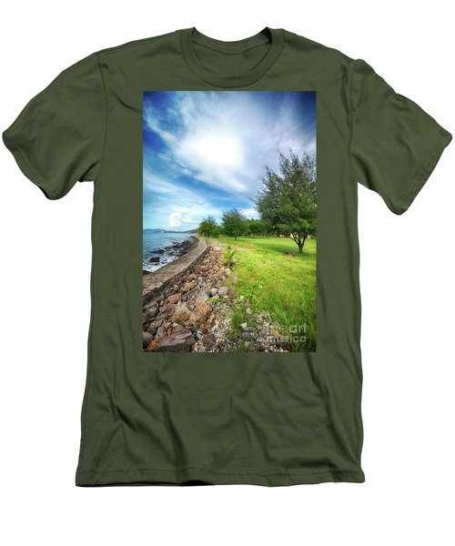 Men's T-Shirt (Slim Fit) featuring the photograph Landscape 2 by Charuhas Images