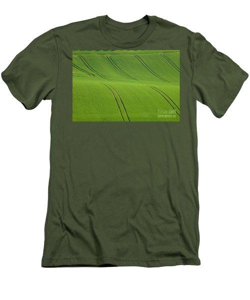 Landscape 5 Men's T-Shirt (Slim Fit) by Jean Bernard Roussilhe