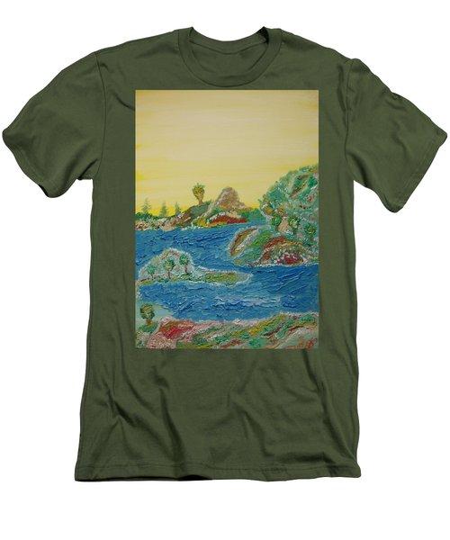 Landscape. Fantasy 28. Men's T-Shirt (Athletic Fit)