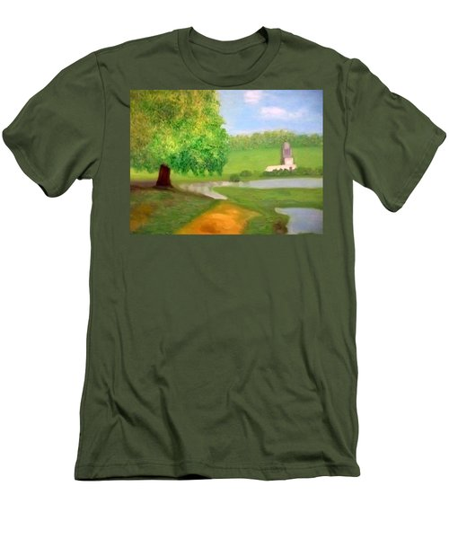 Landscape With Luxuriant Tree And Folly Men's T-Shirt (Athletic Fit)