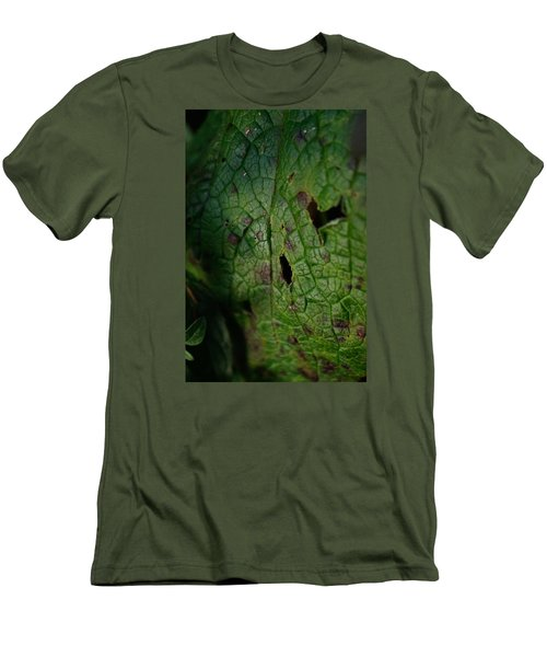 Men's T-Shirt (Slim Fit) featuring the photograph Languid Leaf by Adria Trail