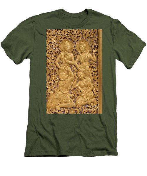 Laos_d59 Men's T-Shirt (Slim Fit) by Craig Lovell