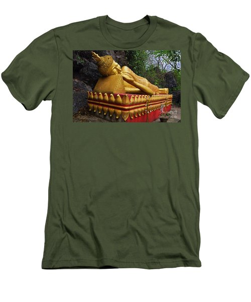 Men's T-Shirt (Slim Fit) featuring the photograph Laos_d602 by Craig Lovell