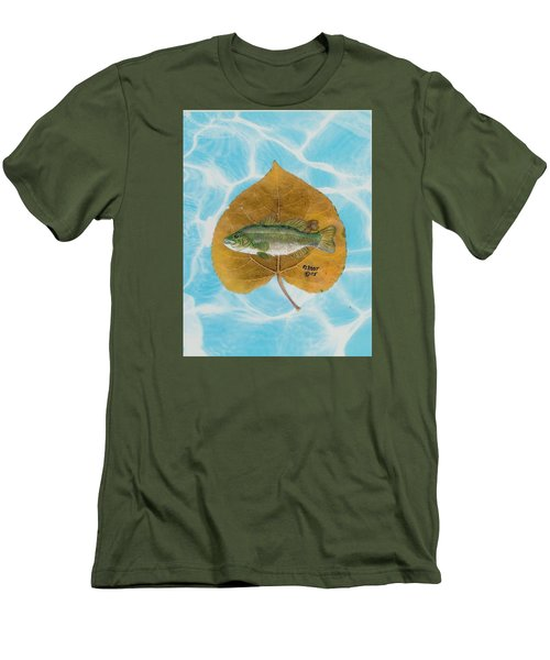 Large Mouth Bass #2 Men's T-Shirt (Slim Fit) by Ralph Root