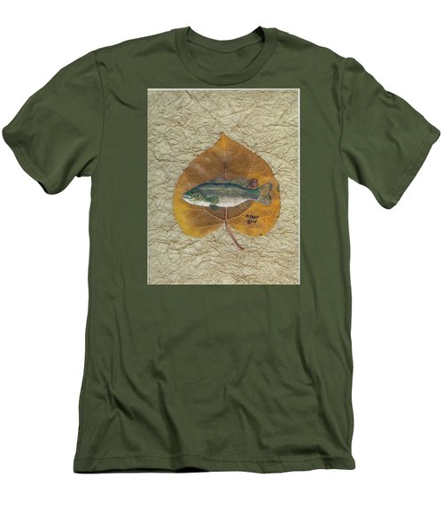 Large Mouth Bass #3 Men's T-Shirt (Slim Fit) by Ralph Root