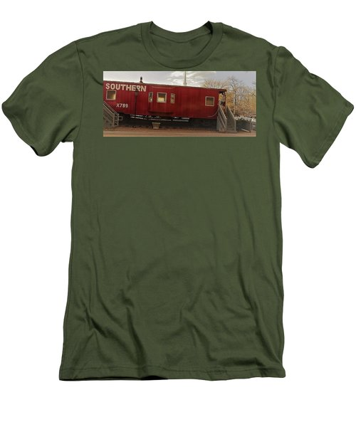 Men's T-Shirt (Athletic Fit) featuring the photograph Last Stop by Aaron Martens