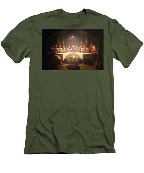 Last Supper Meeting Men's T-Shirt (Slim Fit) by Munir Alawi