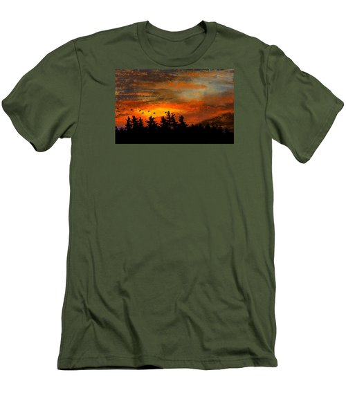Late Autumn Travelers Men's T-Shirt (Athletic Fit)