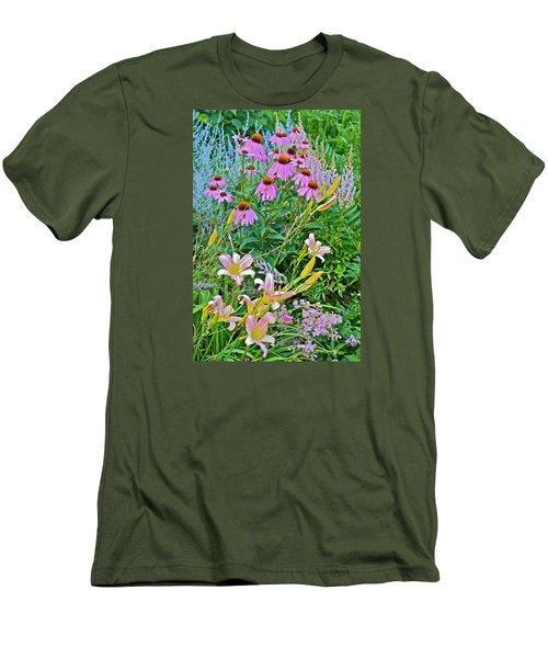 Late July Garden 3 Men's T-Shirt (Slim Fit) by Janis Nussbaum Senungetuk