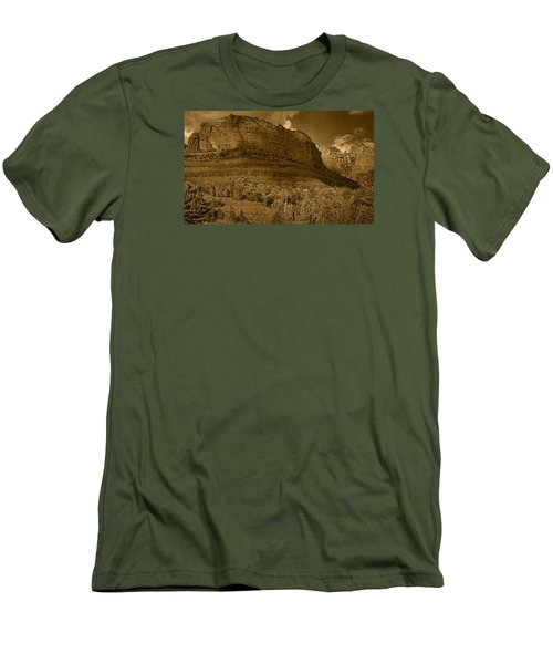 Late Light At Brin's Mesa Tnt Pano Men's T-Shirt (Athletic Fit)