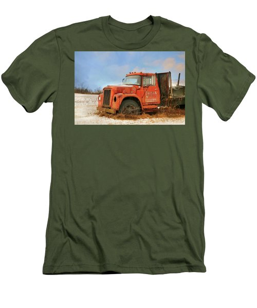 Men's T-Shirt (Slim Fit) featuring the photograph Latsha Lumber Truck by Lori Deiter