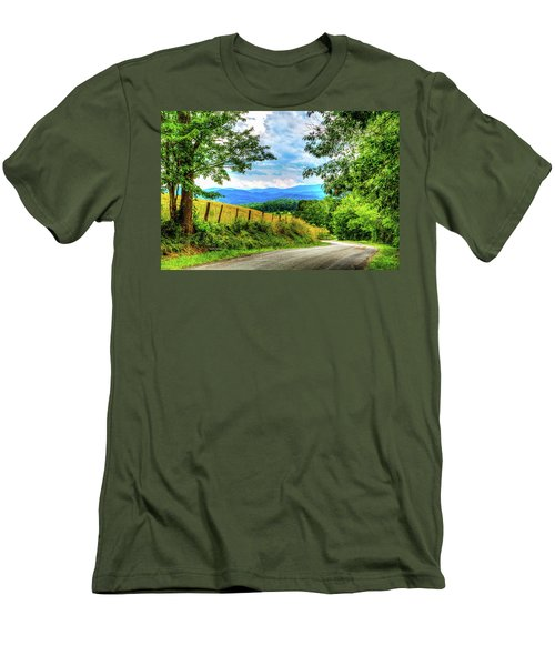 Laurel Hill View Men's T-Shirt (Slim Fit) by Dale R Carlson