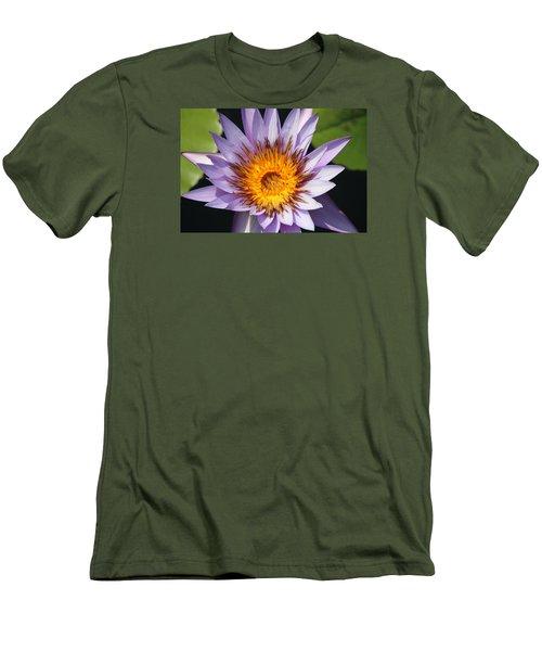 Lavender Fire Open Men's T-Shirt (Athletic Fit)