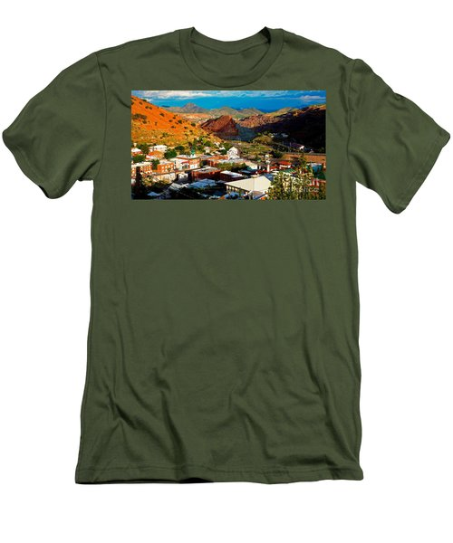 Lavender Pit In Historic Bisbee Arizona  Men's T-Shirt (Athletic Fit)