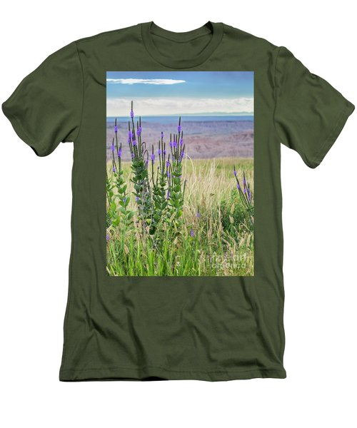 Lavender Verbena And Hills Men's T-Shirt (Athletic Fit)