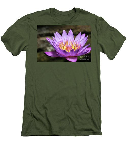 Lavender Water Lily #3 Men's T-Shirt (Athletic Fit)