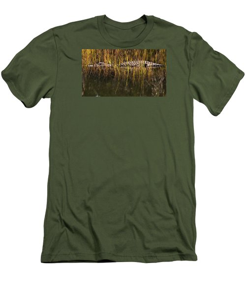 Men's T-Shirt (Slim Fit) featuring the photograph Laying In Wait by Laura Ragland