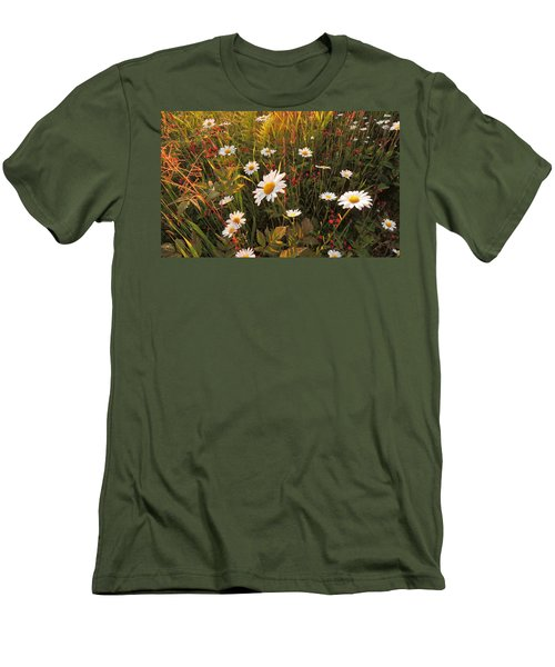Lazy Days Daisies Men's T-Shirt (Athletic Fit)