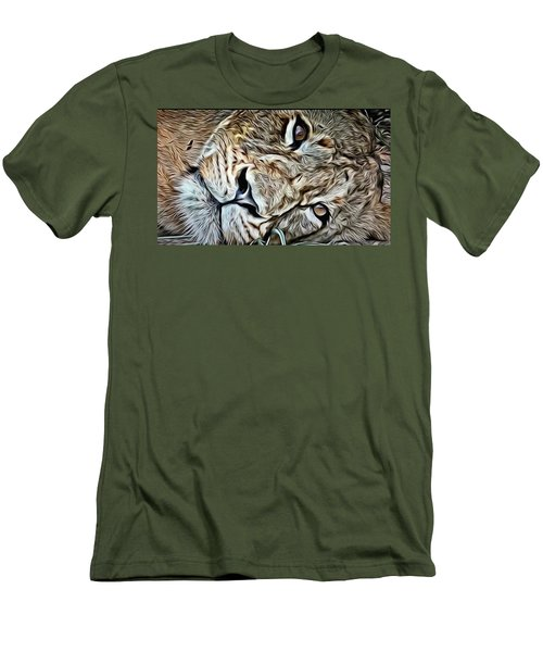 Lazy Lion Men's T-Shirt (Athletic Fit)