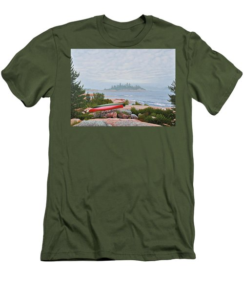 Le Hayes Island Men's T-Shirt (Slim Fit) by Kenneth M Kirsch