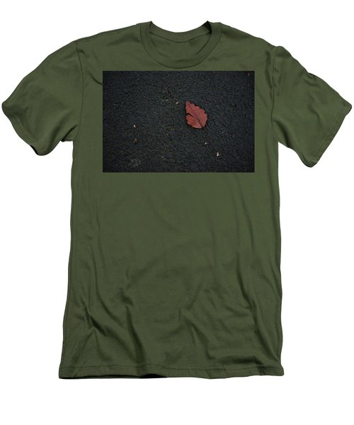 Leaf On Asphalt Men's T-Shirt (Athletic Fit)