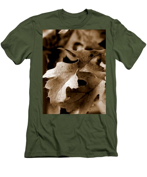 Leaf Study In Sepia IIi Men's T-Shirt (Slim Fit) by Lauren Radke