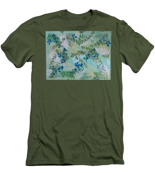 Leafy Floor Cloth Men's T-Shirt (Slim Fit) by Judith Espinoza